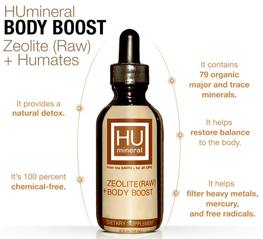 HUmineral Zeolite raw liquid humic added detox and mineralization drops