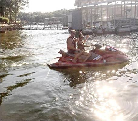 HUMineral humic fulvic celluar health Candice on jet ski