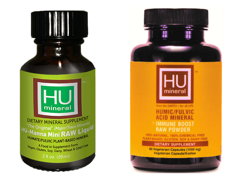 8oz HUmineral RAW liquid and RAW powder capsules humic fulvic minerals
