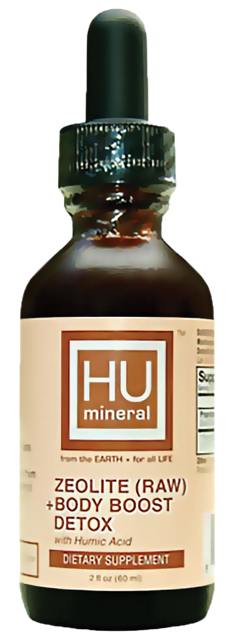 HUmineral HUMIC Zeolite RAW body boost detox plant based organic major trace minerals cellular health smart mineral